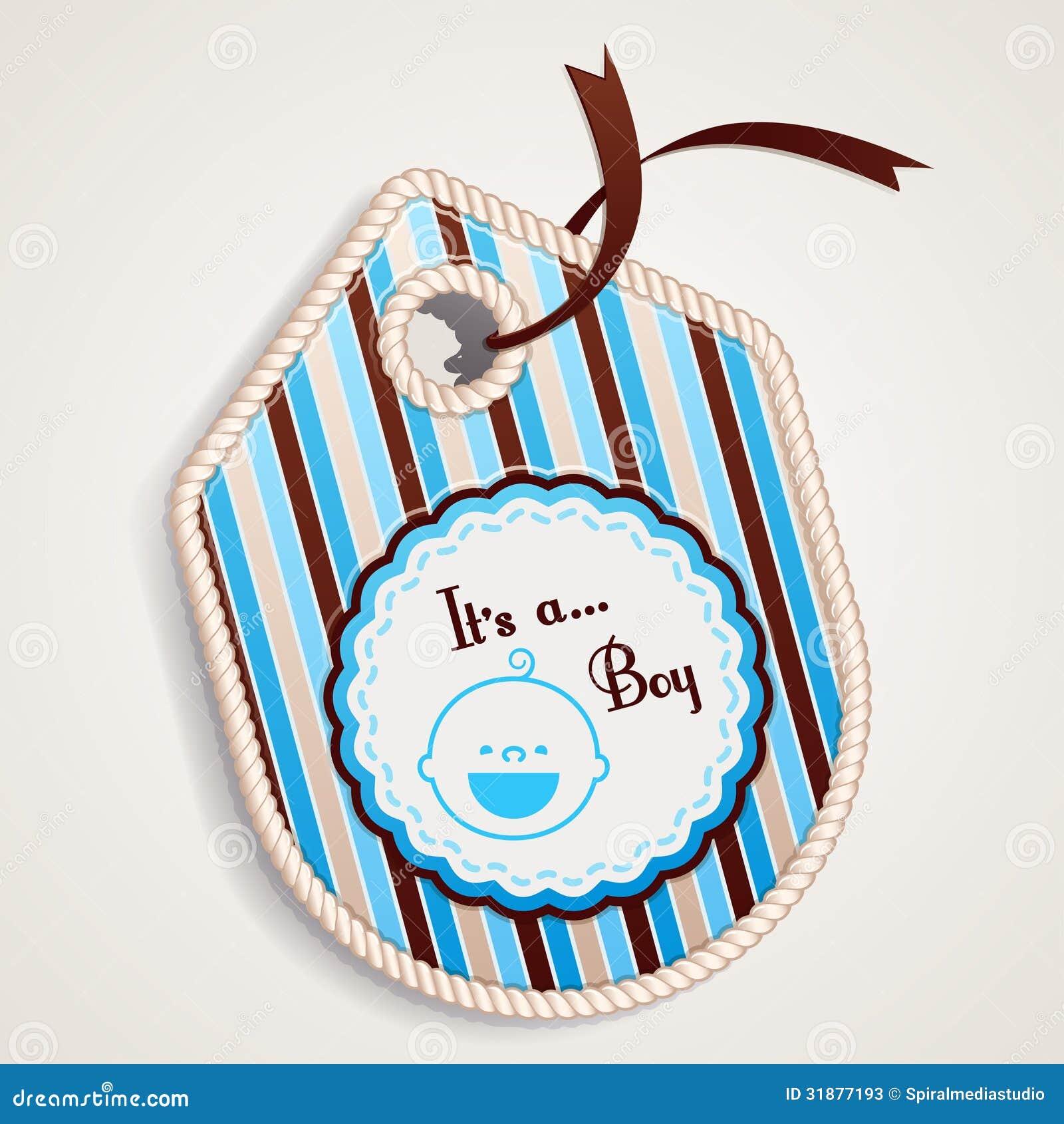 baby boy label stock photos image 31877193