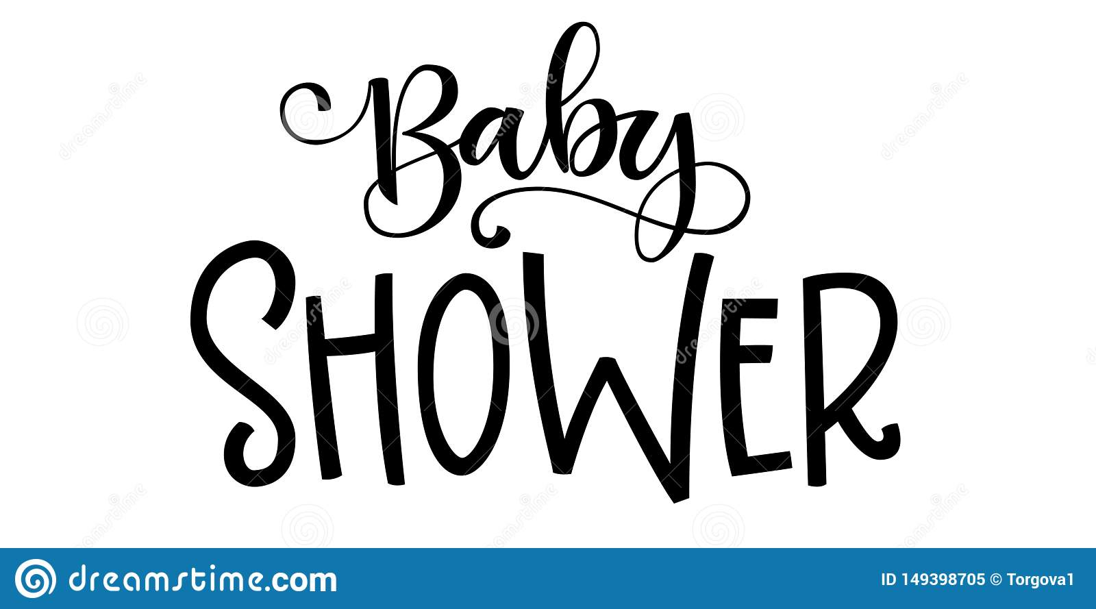 Baby Boy Logo Quote. Baby Shower Hand Drawn Grotesque ...