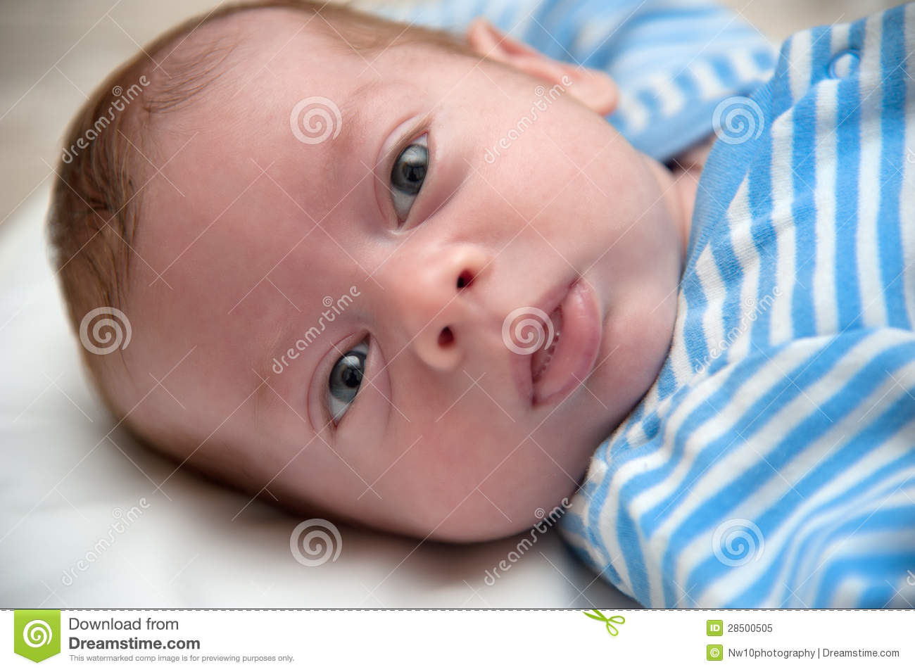Baby Boy Lying Down Royalty Free Stock Photo - Image: 28500505