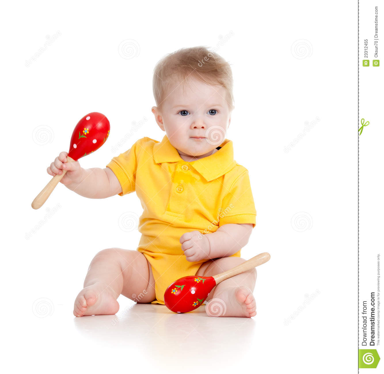 Musical Toys For Toddlers Boys : Baby boy with musical toys maracas stock image