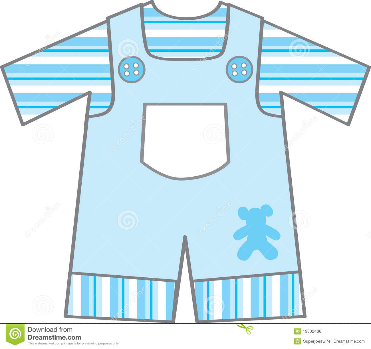 Baby Boy Outfit Stock Vector Image Of Pocket Bear