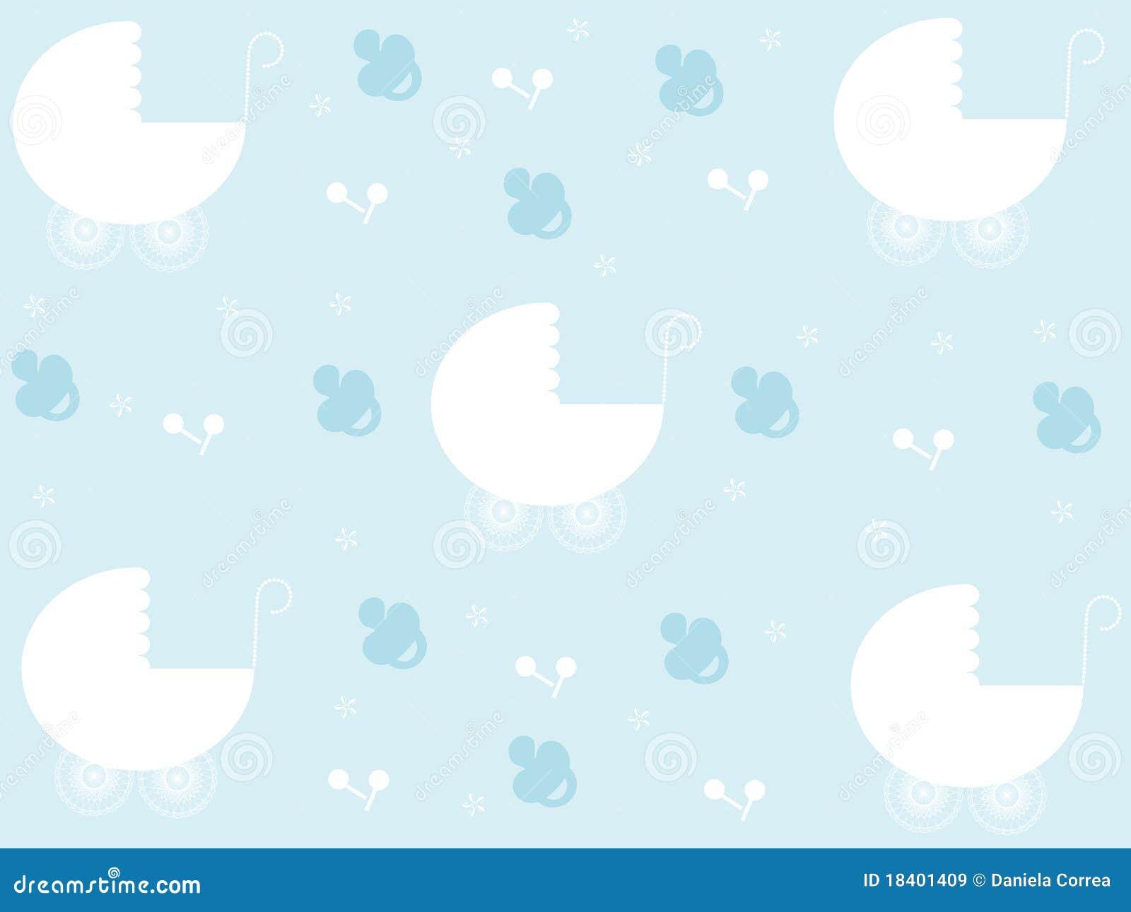 Baby Boy Pattern Stock Illustration Of Birth