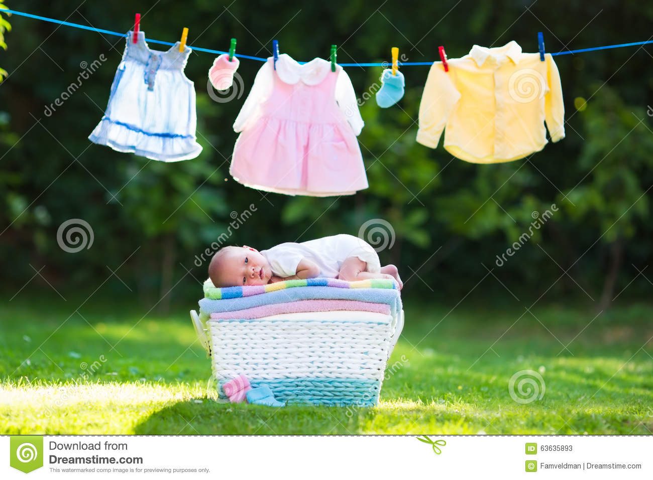c2744d49c251 Baby Boy On A Pile Of Towels Outdoors Stock Image - Image of little ...