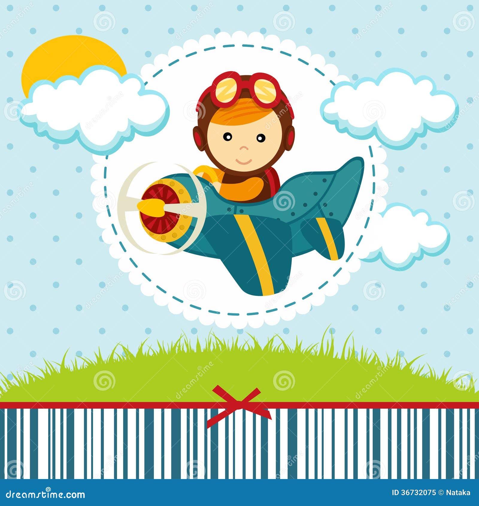 Baby Boy Pilot Royalty Free Stock Photo Image 36732075