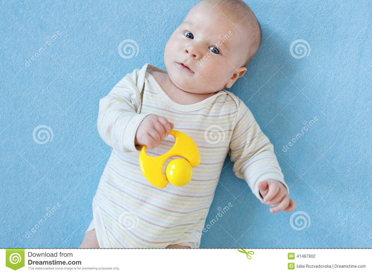 Boy Educational Toys : Baby boy is playing with educational toys stock photo