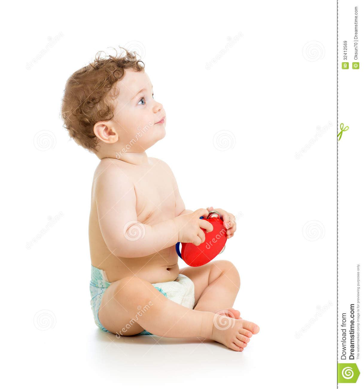 White Boys Toys : Baby boy playing musical toy royalty free stock images