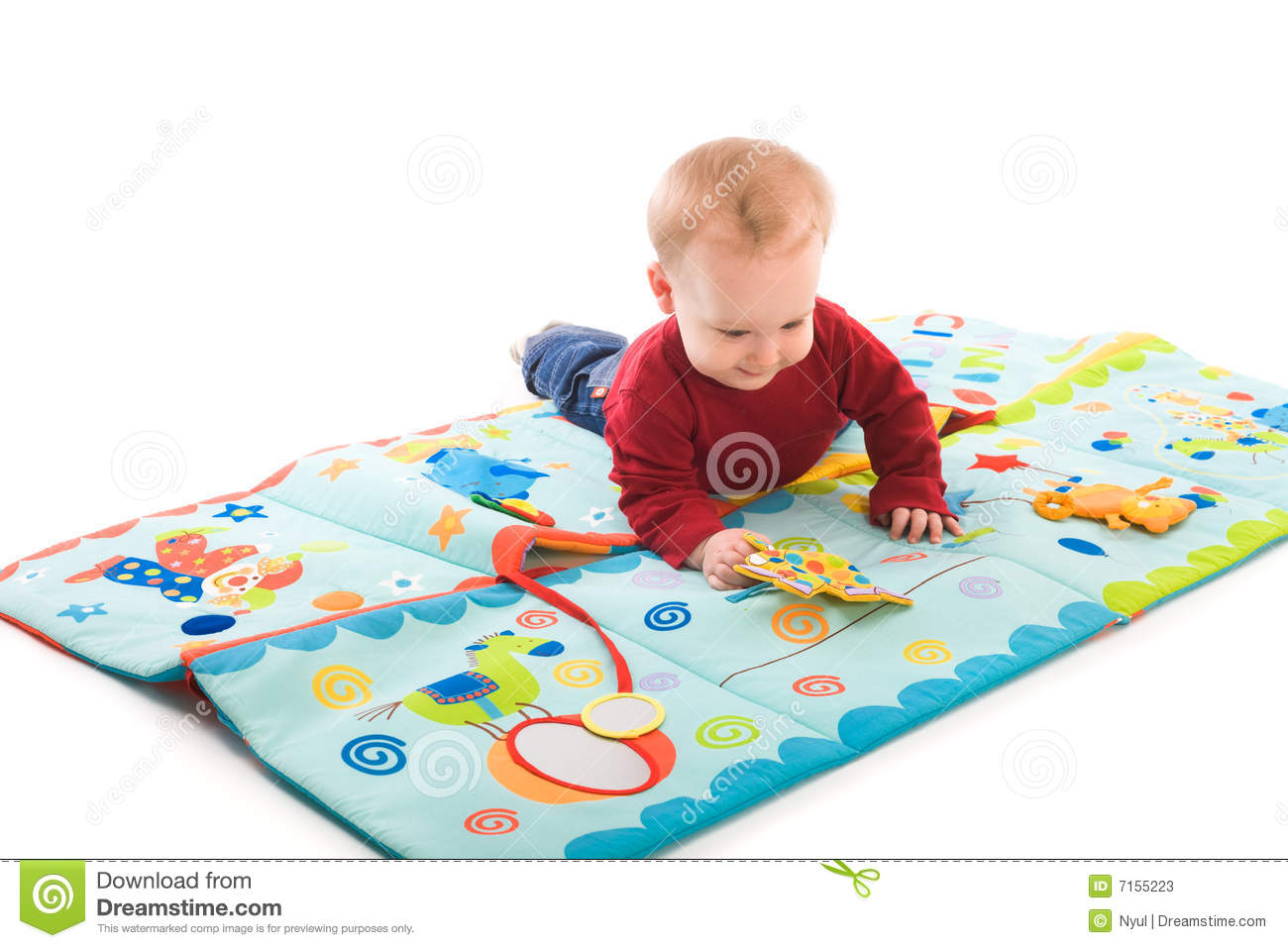 Baby Boy Playing With Toys Stock Image Image Of