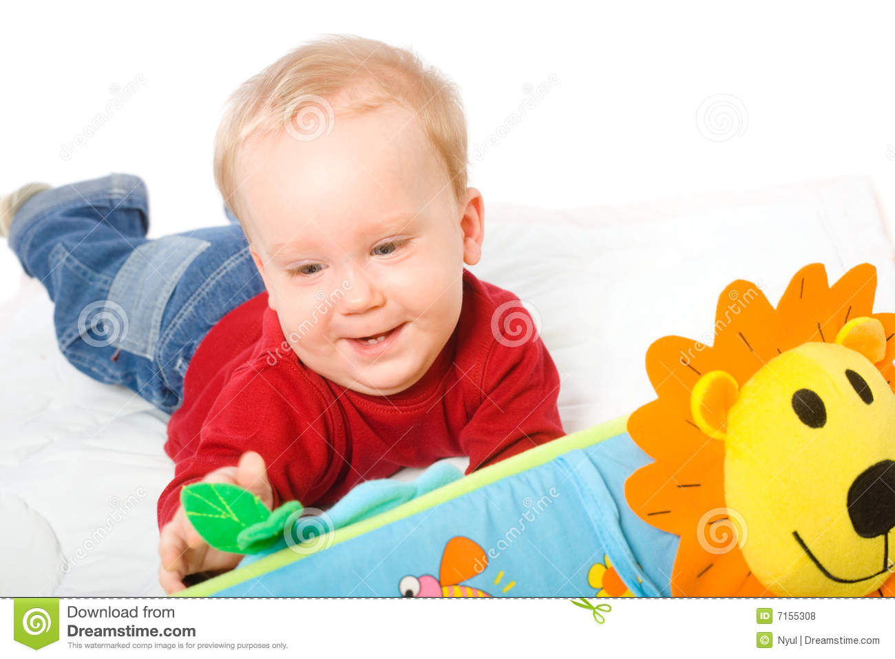 Baby Boy Playing With Toys Stock Photo Image Of Family 7155308
