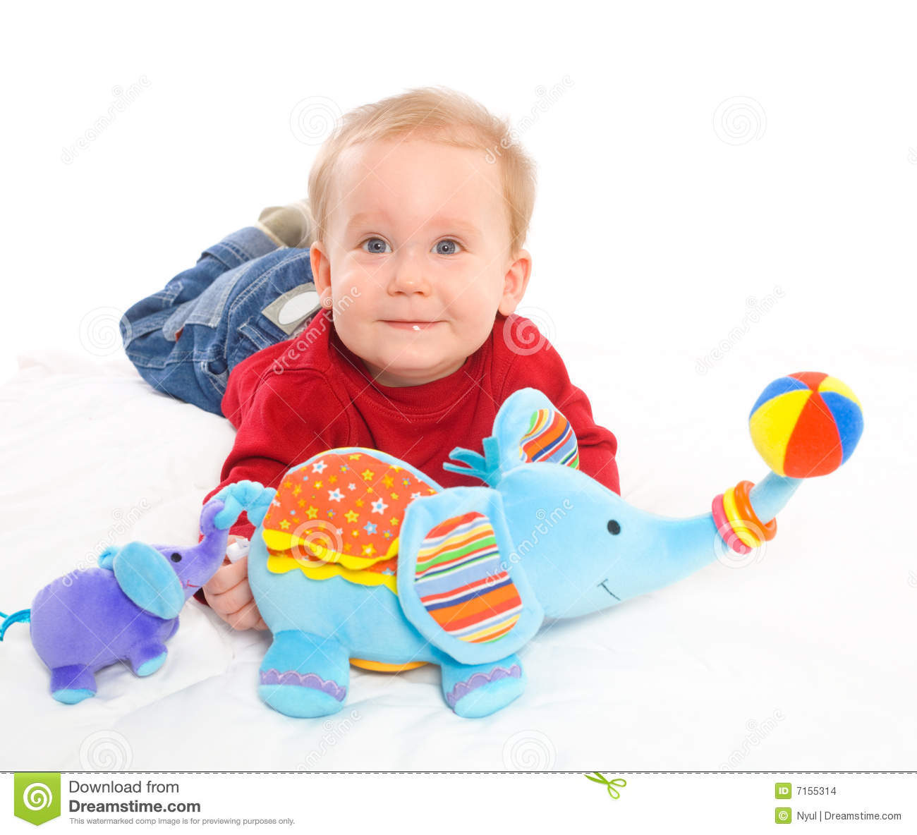 Boy Toys Baby : Baby boy playing with toys stock photo image of childhood