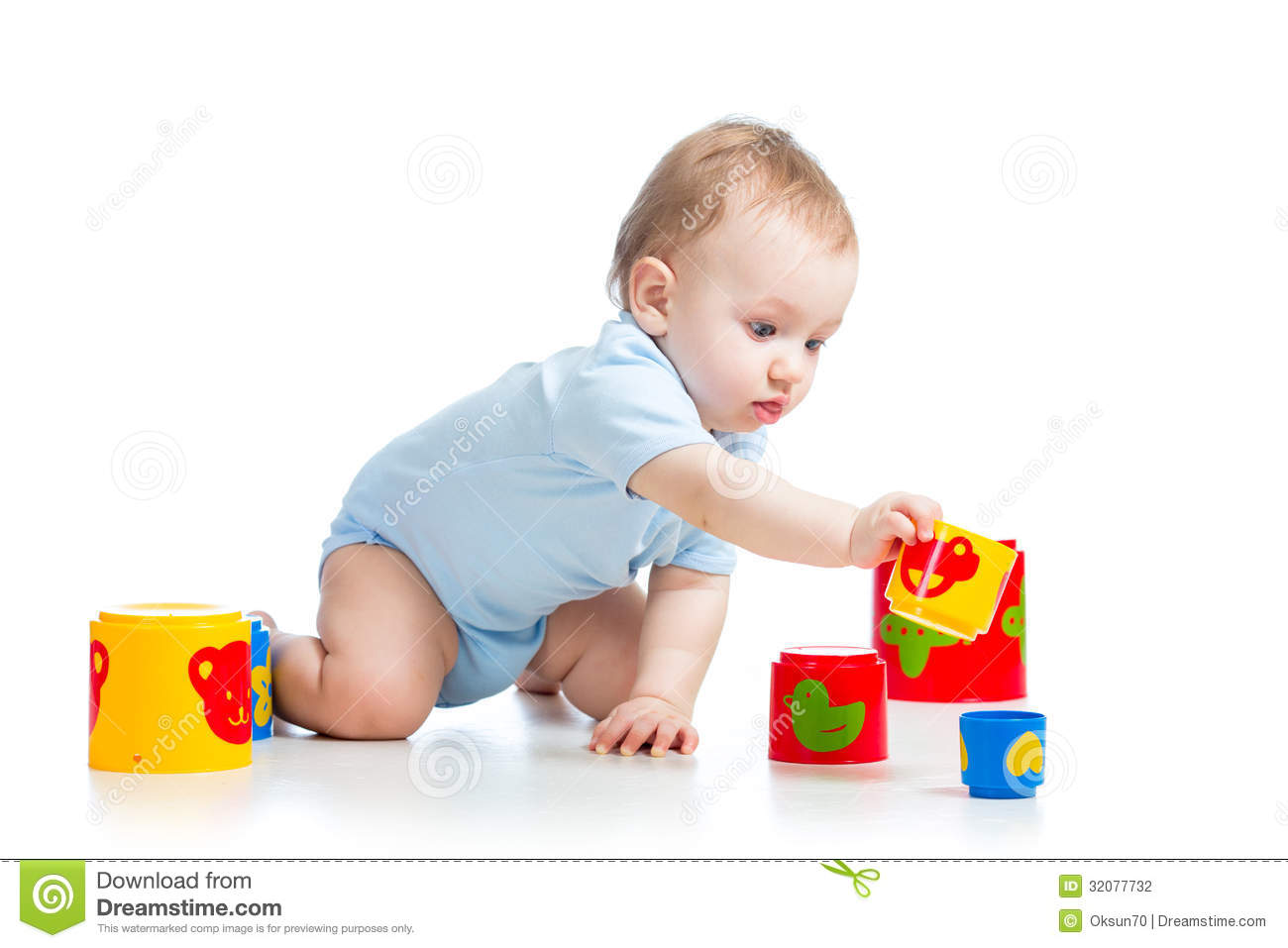 White Boys Toys : Baby boy playing with toys stock photography image