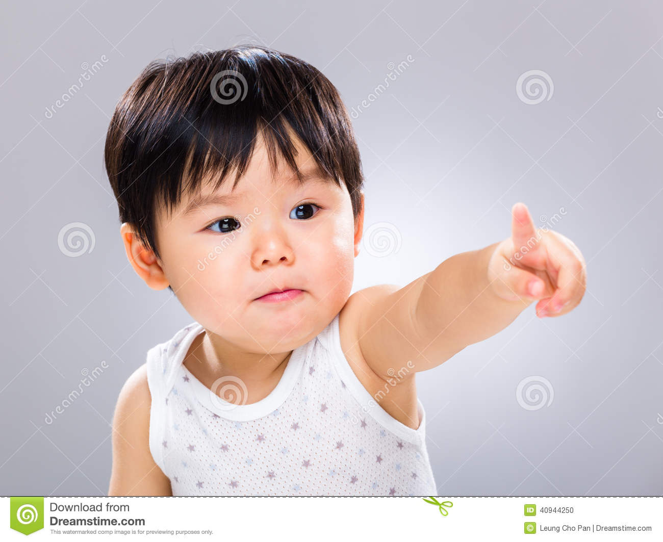 Baby Boy Pointing Finger Stock Photo - Image: 40944250 Cute Baby Pointing Finger
