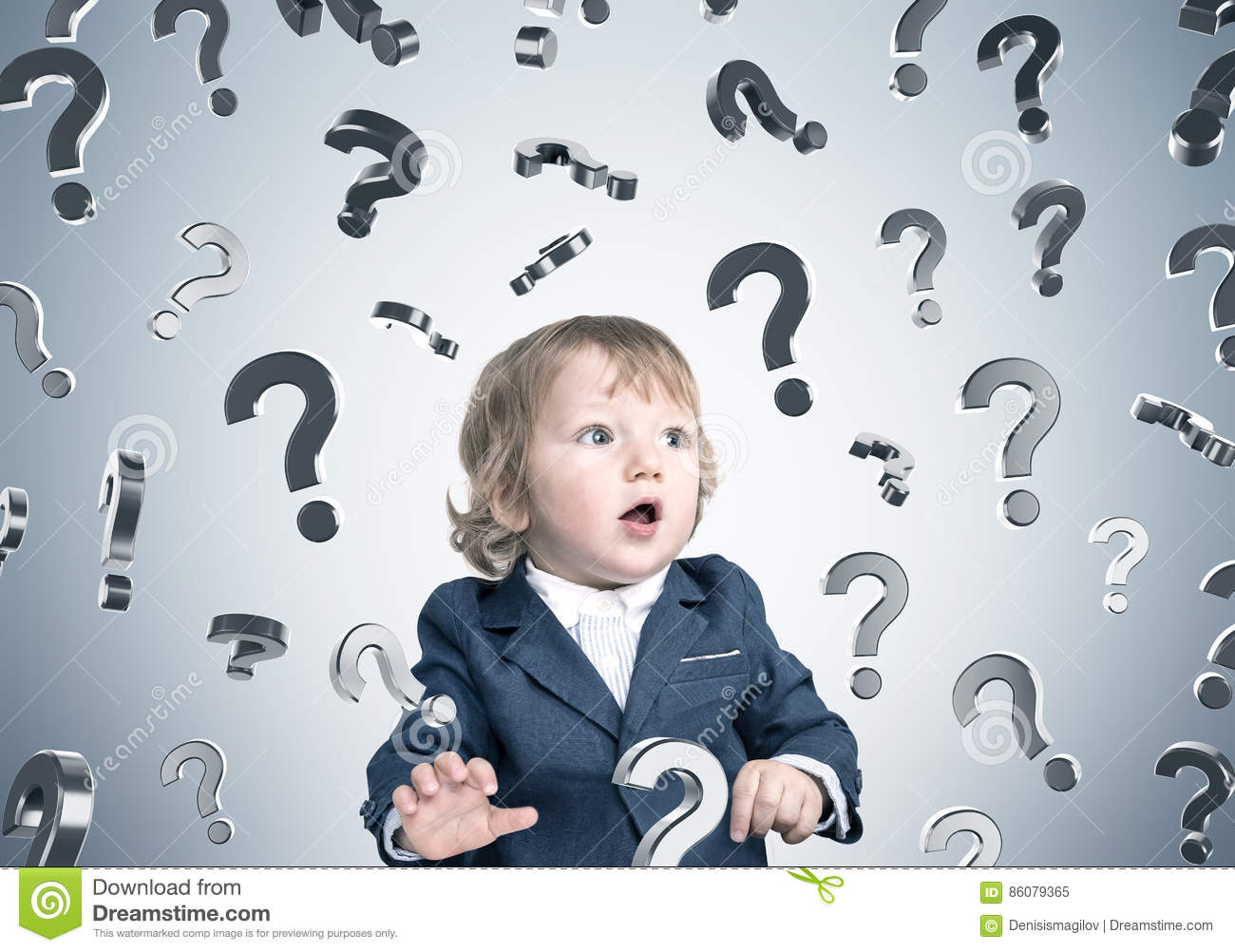 download baby boy and question marks on gray wall stock image image of grey