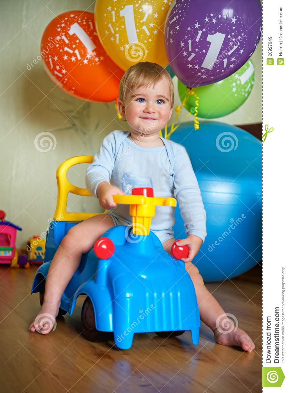 Baby Boy S 1 Year Birthday Royalty Free Stock Images