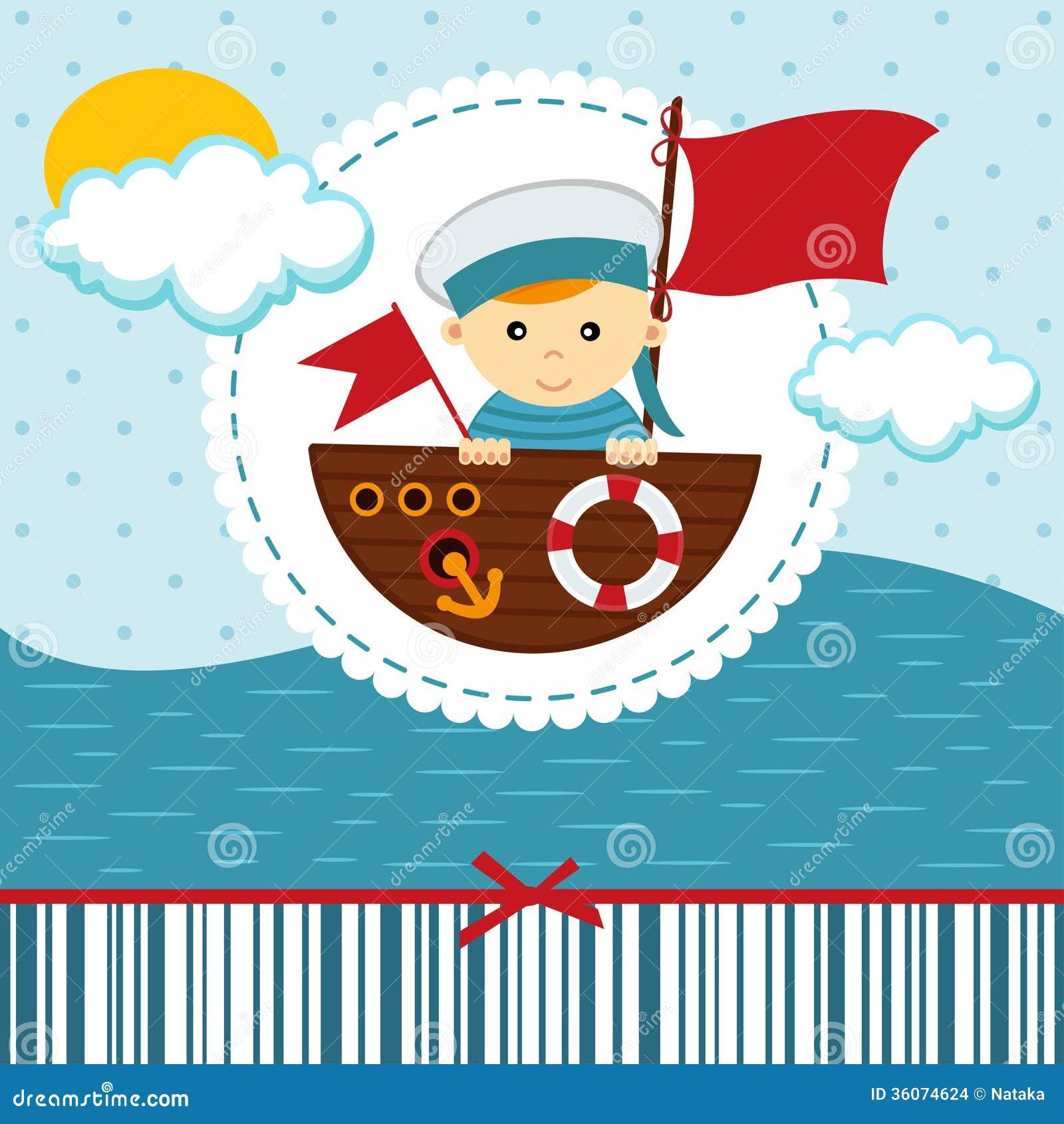 Download Baby boy sailor stock vector. Illustration of seaman - 36074624