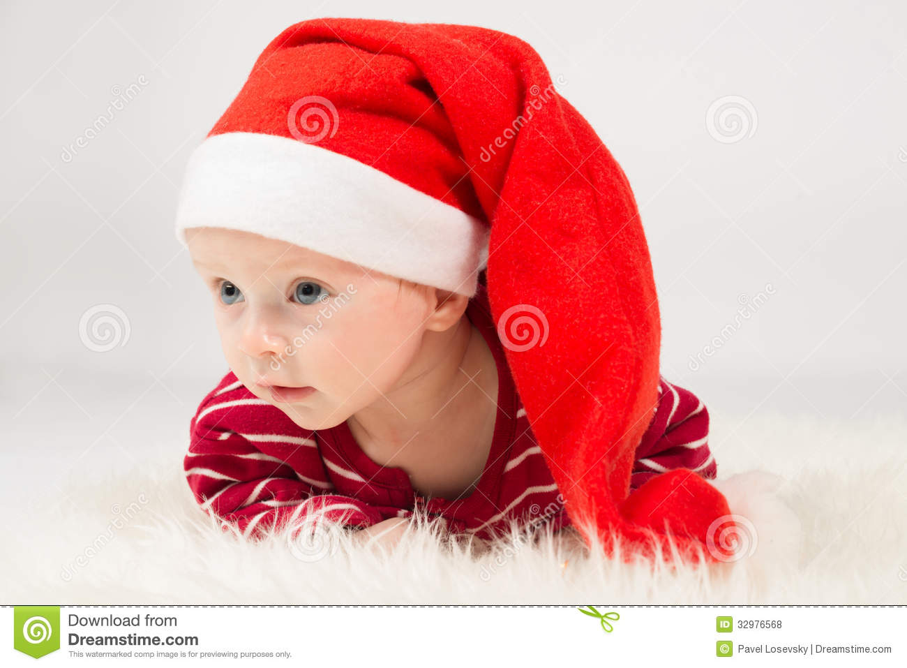 bf98043b0a8 Baby Boy In Santa Claus Cap Stock Photo - Image of male