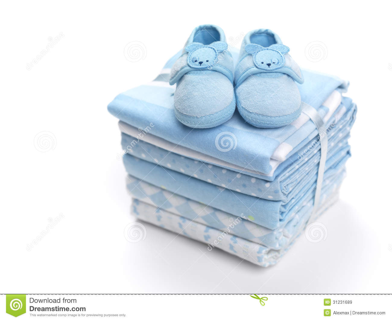 baby boy shoes on blankets royalty free stock images