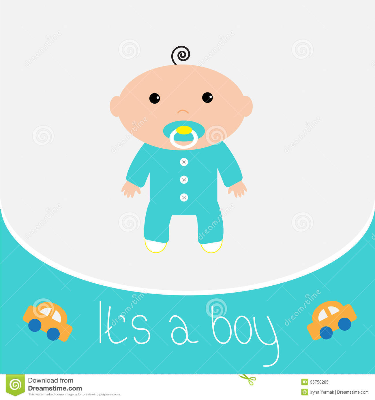 Baby Boy Shower Card Stock Vector Illustration Of Happiness 35750285