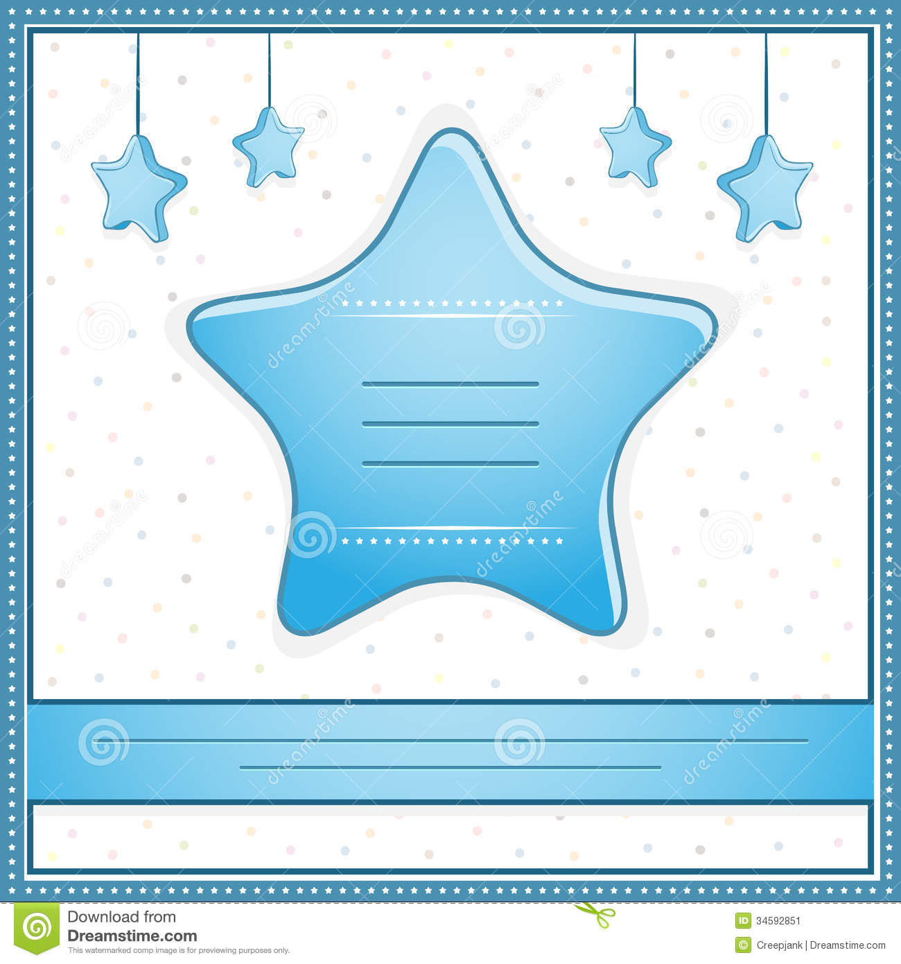 baby boy shower invitation card stock image