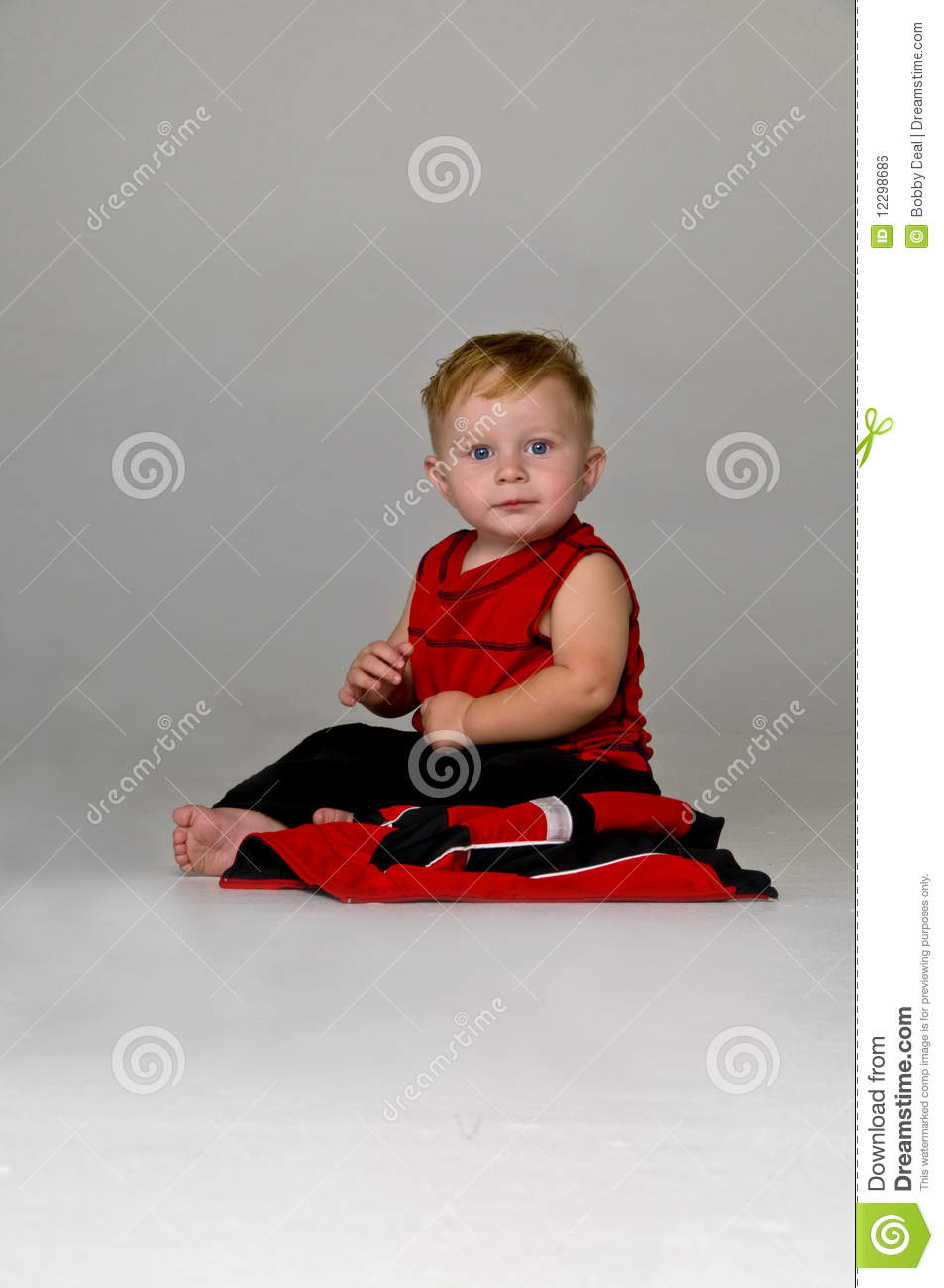 Baby Boy Sitting Royalty Free Stock Image Image 12298686
