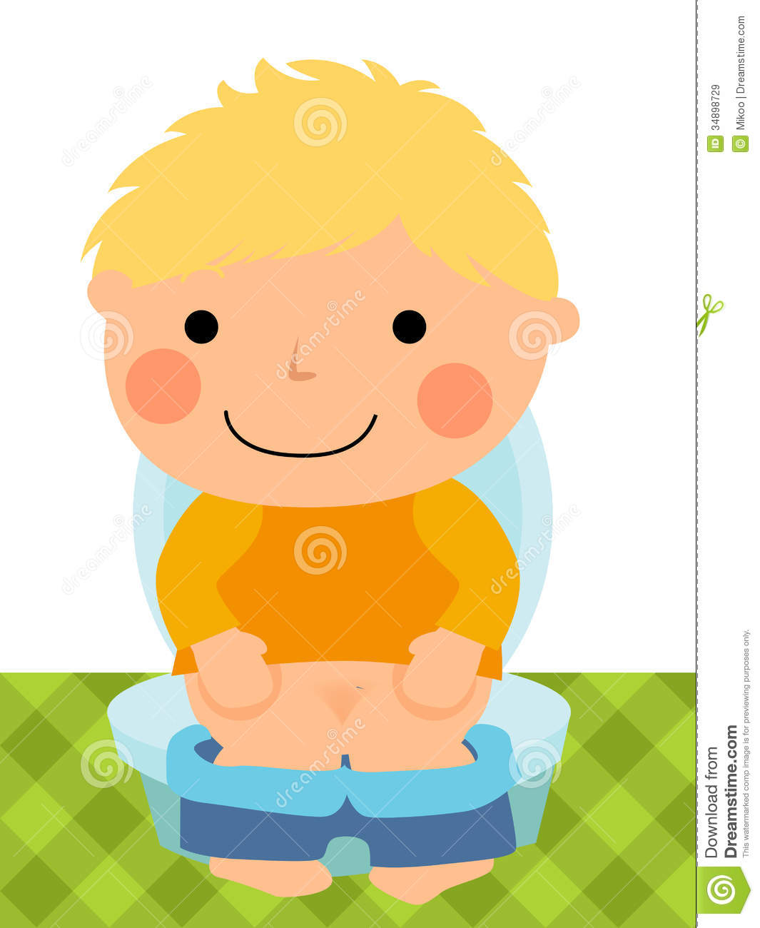 Baby Boy Sitting On The Toilet Royalty Free Stock Images - Image ...