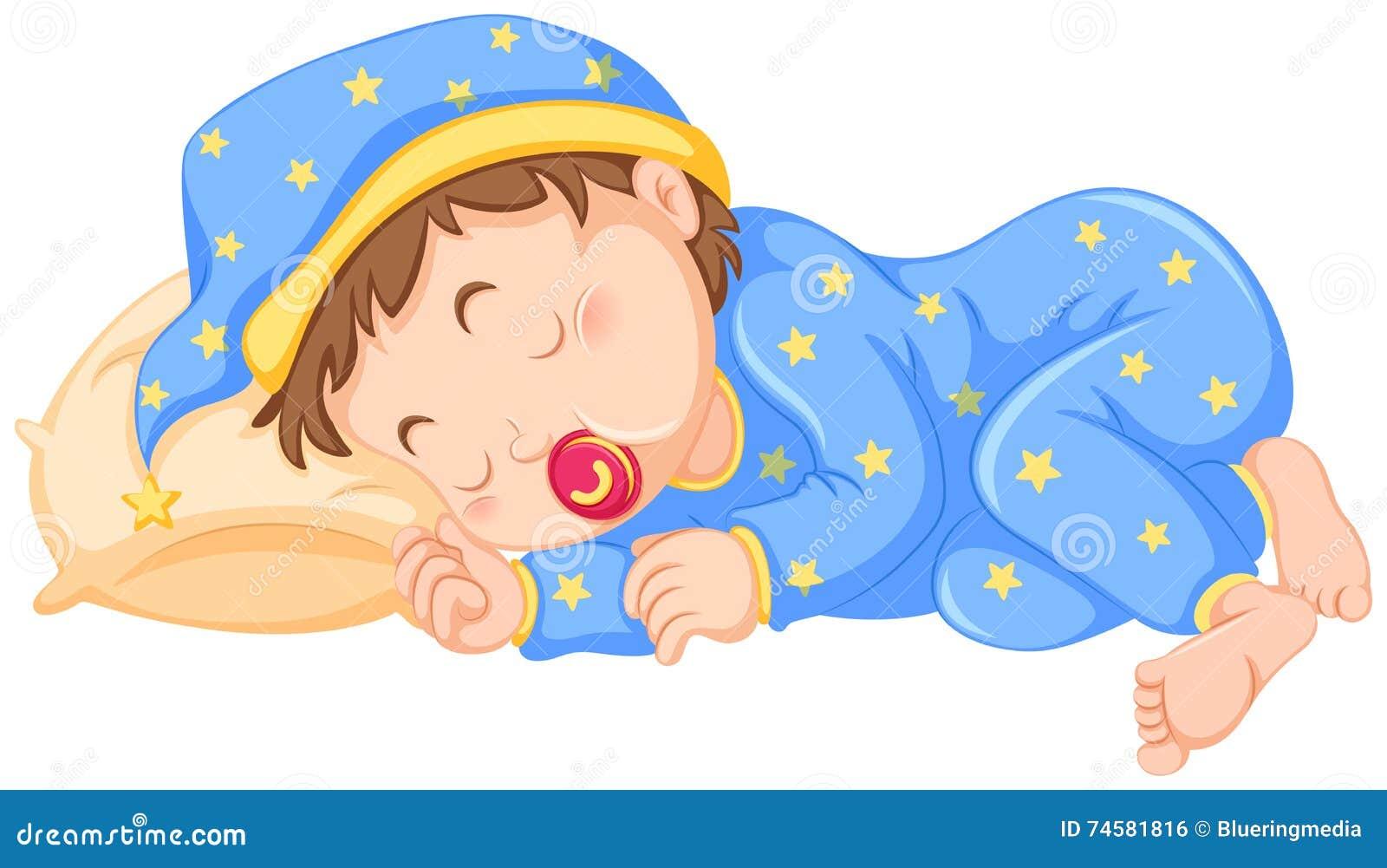 Baby boy sleeping stock vector. Illustration of drawing