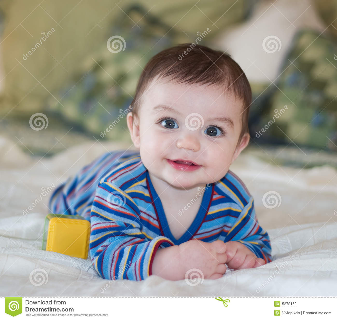 Baby Boy Smiling While Posing Stock Photo Image Of Content