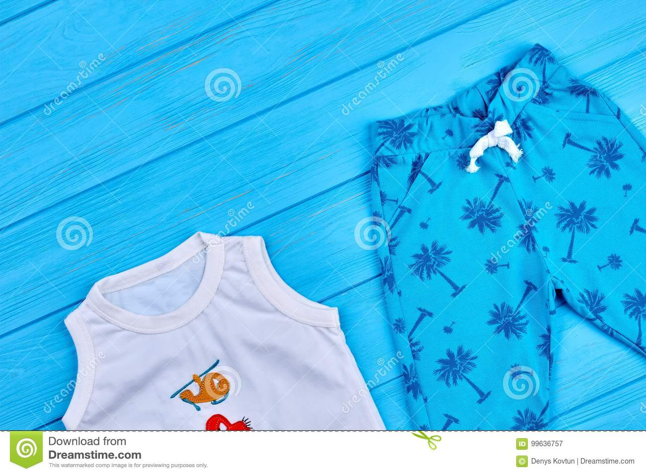 327cab9596a6 Baby Boy Summer Fashion Garment. Stock Image - Image of baby