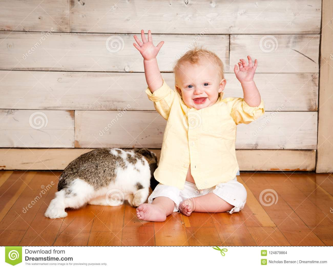 Easter Boy and Bunny