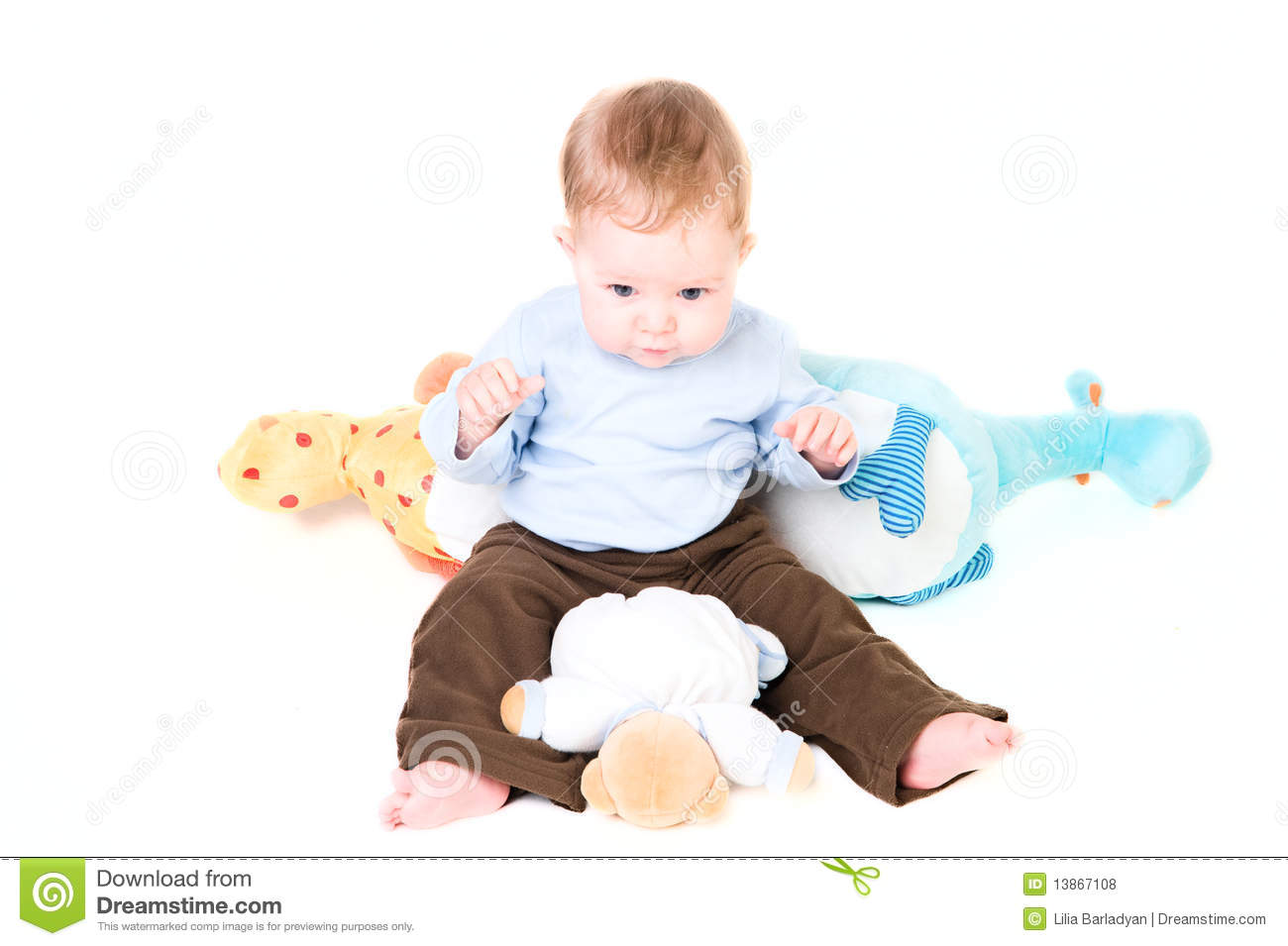 Boy Toys Baby : Baby boy with toys royalty free stock photos image