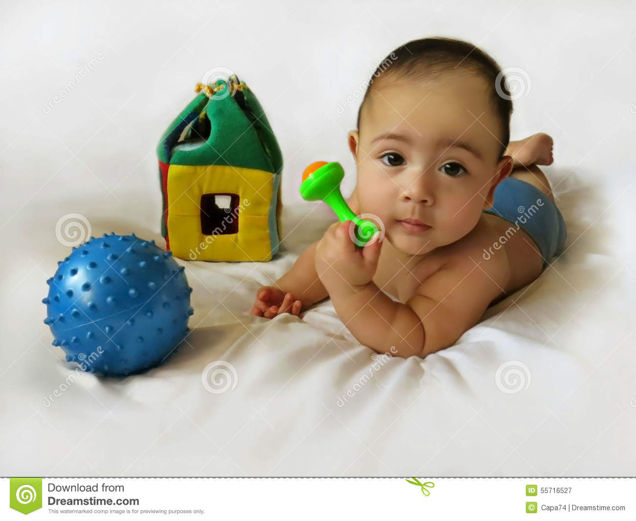 Boy Toys Background : Baby boy with toys stock photo image