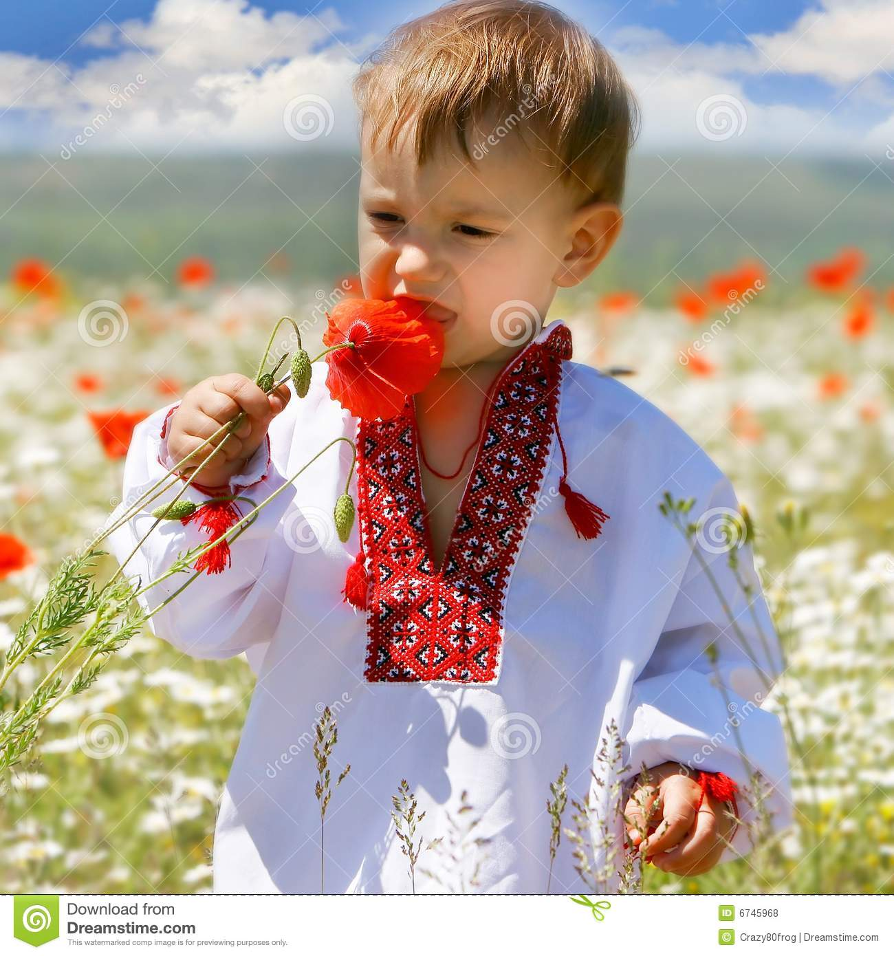 Baby Boy In Traditional Clothes Stock Photo Image Of Design