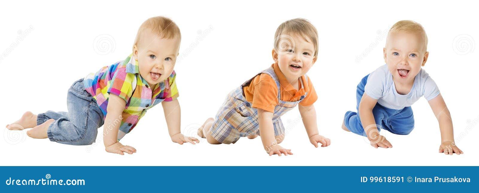 Baby Boys Group, Crawling Infant Kid, Toddler Child Crawl