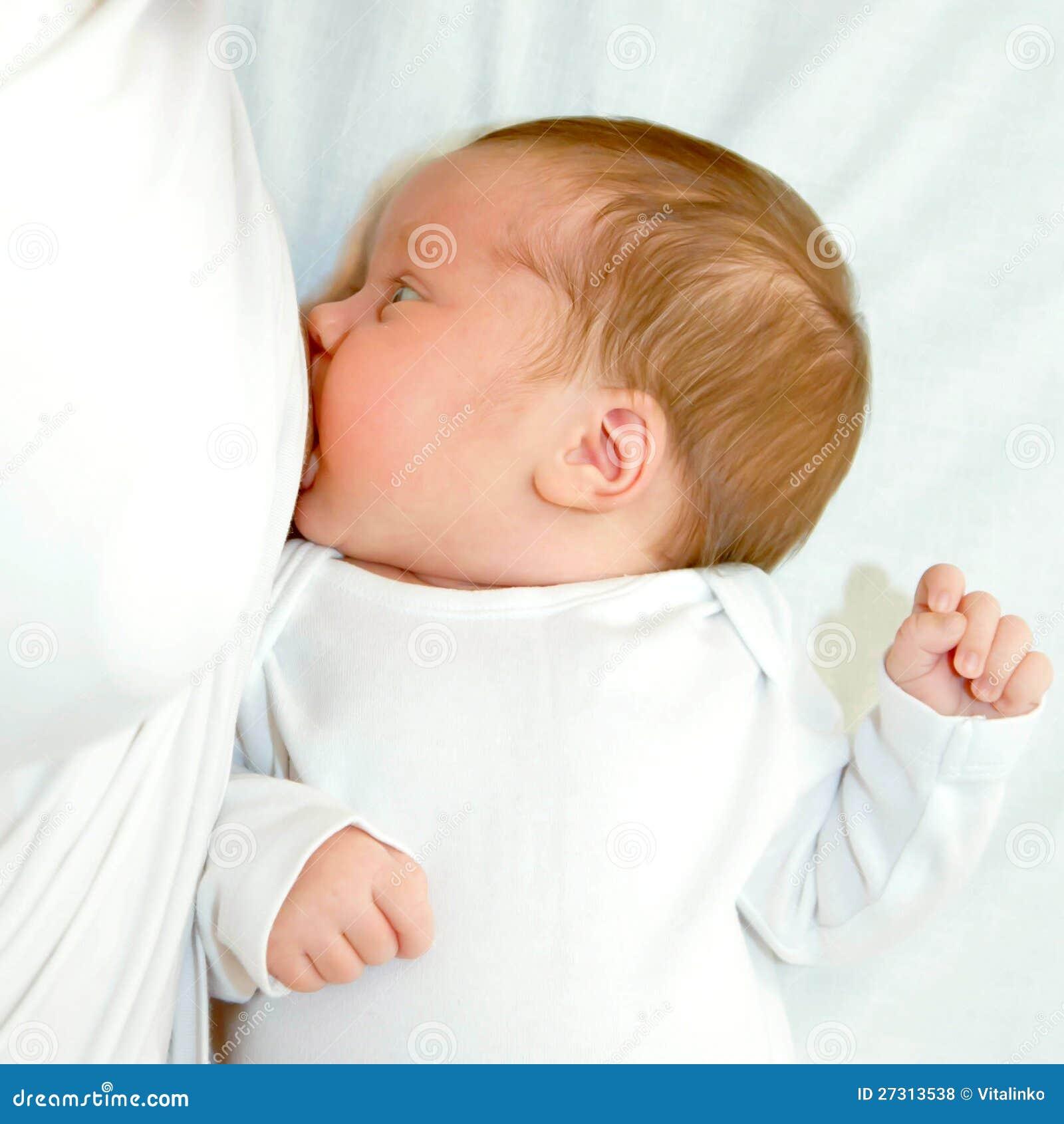 Boy Sucking Girlfriend Breast Baby Is Breast Feeding...