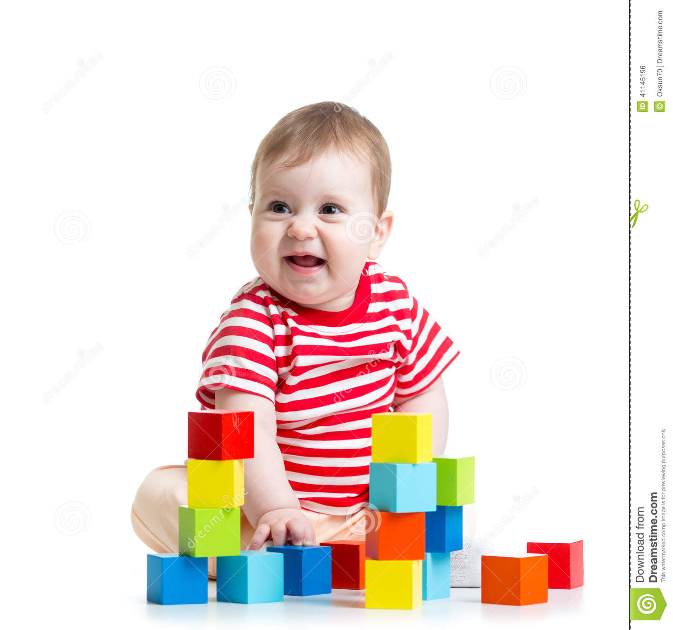 Toddler Toys Photography : Baby toddler playing building block toys stock photo