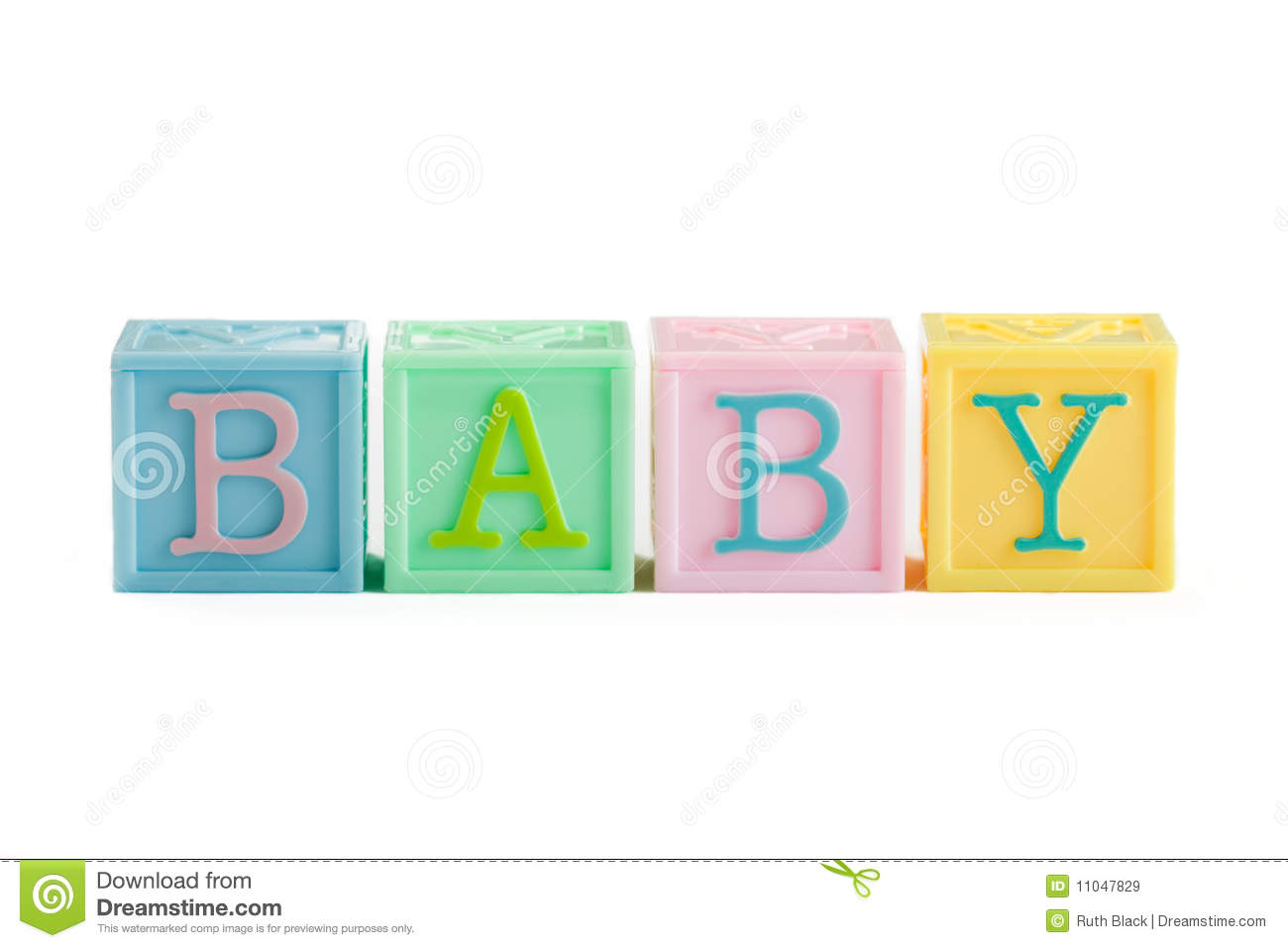 Baby Shower Alphabet Letters