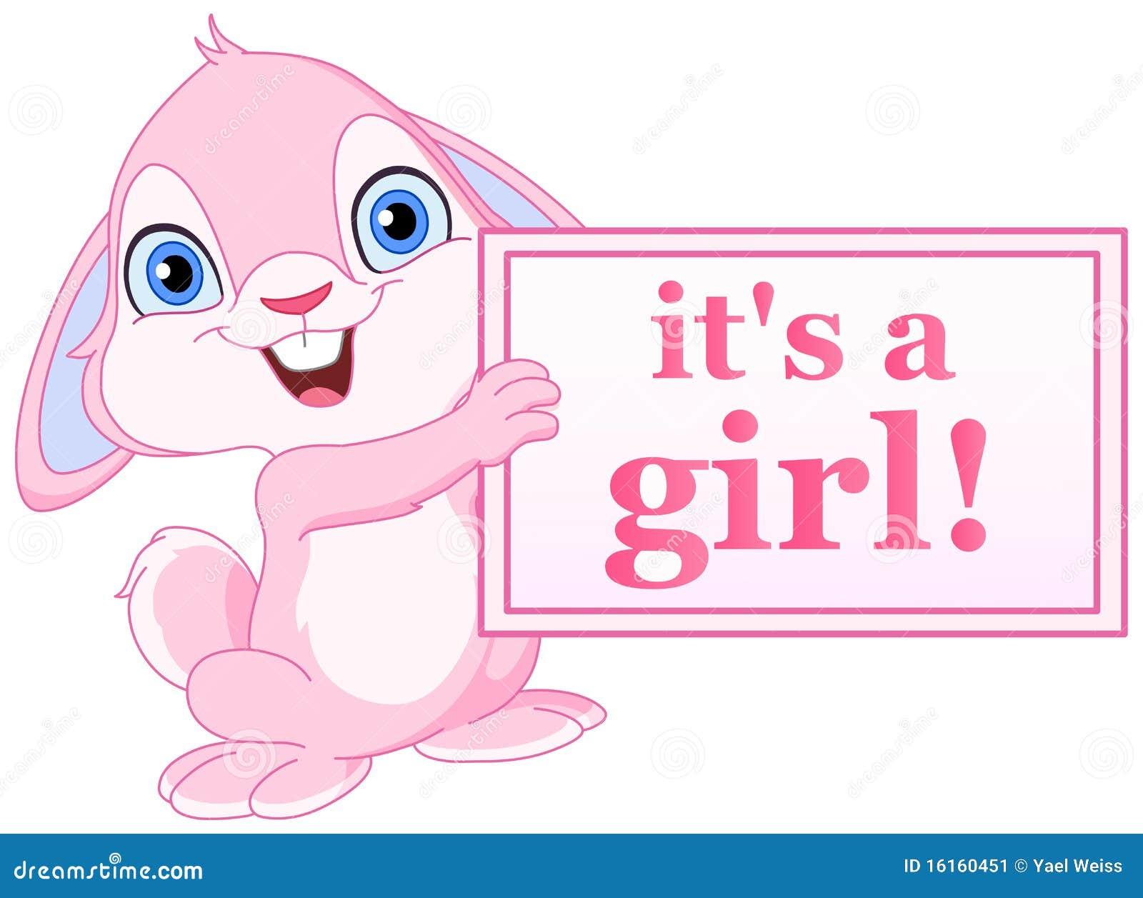 Baby Bunny Girl Stock Image Image 16160451