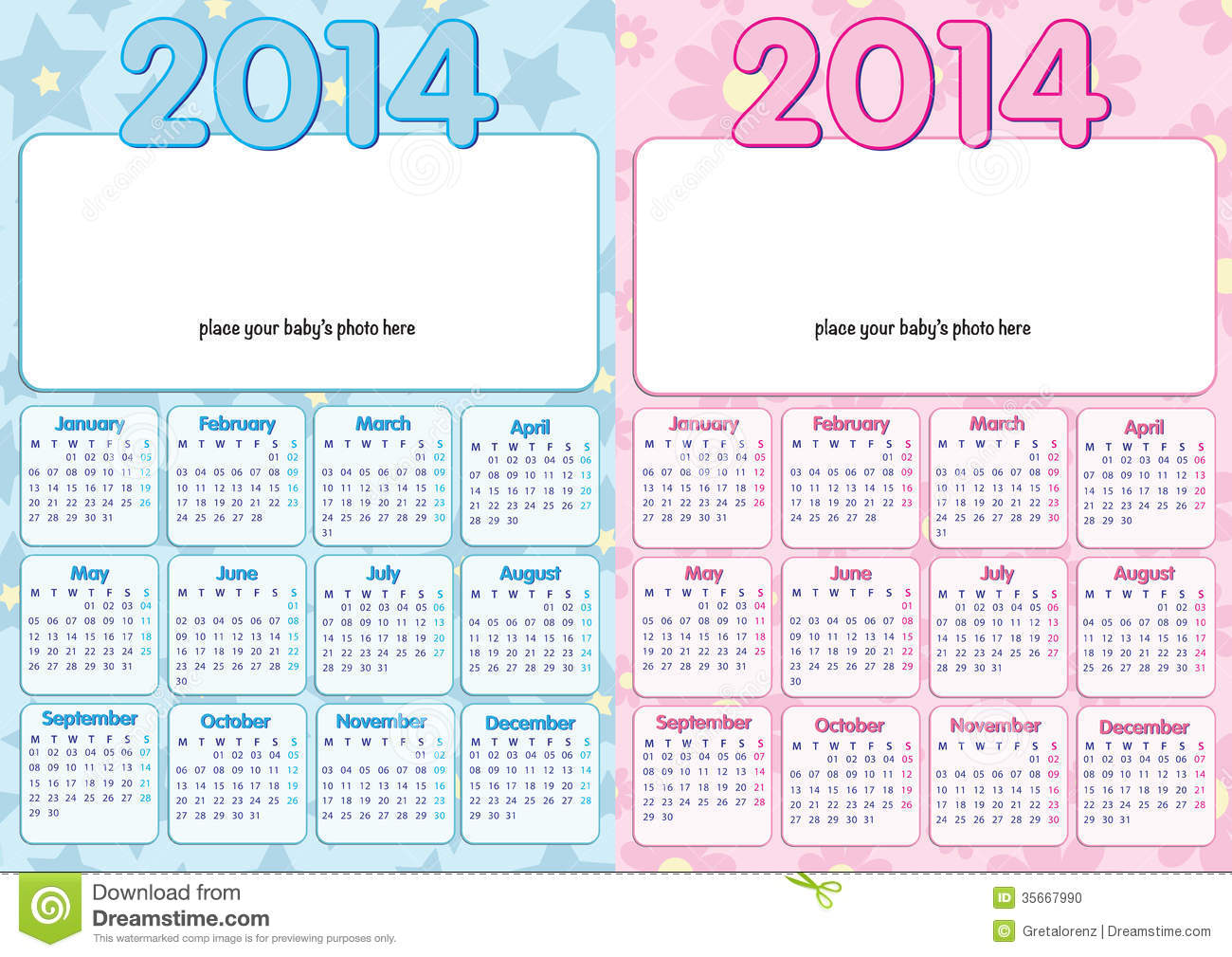 Chinese Gender Calendar 2014 Baby calendar 2014 in english, for boy ...