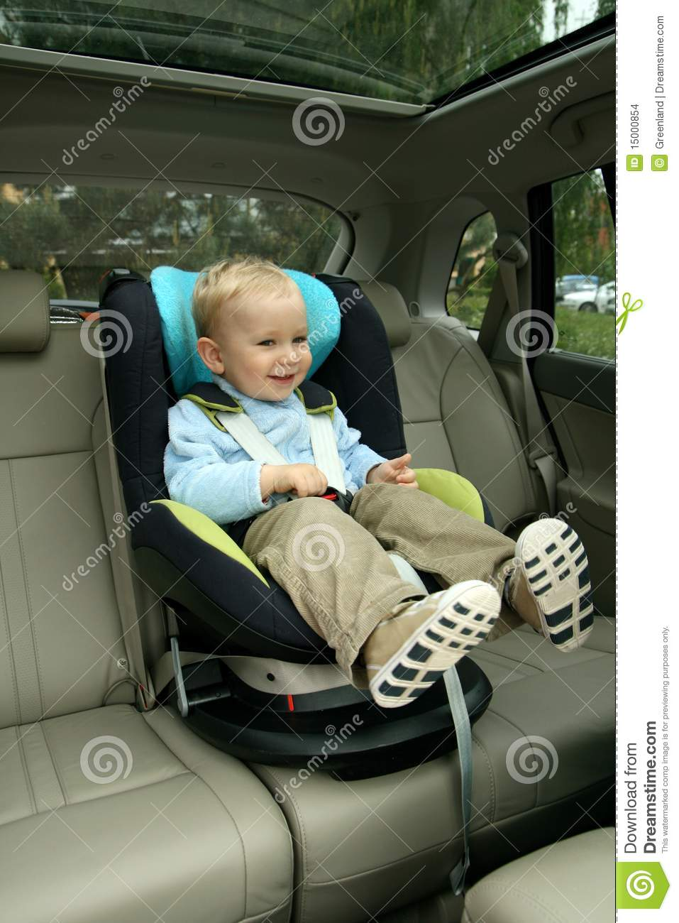 Baby In Car Seat Stock Photo Image Of Security Face