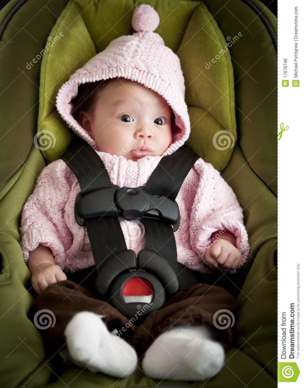 Baby In Car Seat Royalty Free Stock Image Image 17676746