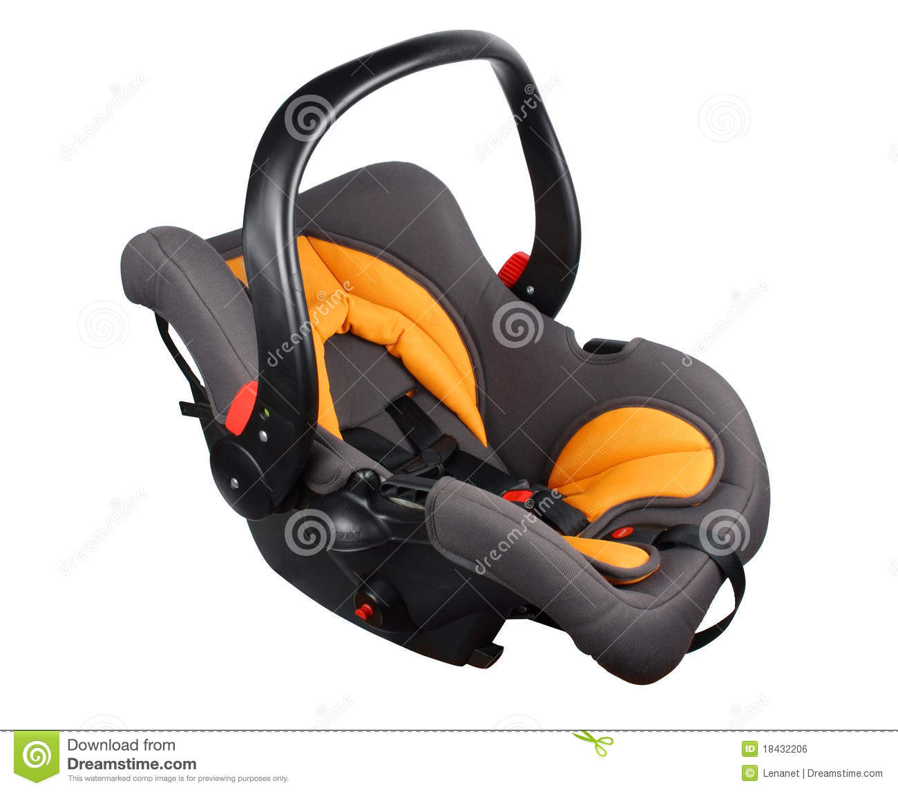 baby in car seat royalty free stock image 9374554. Black Bedroom Furniture Sets. Home Design Ideas