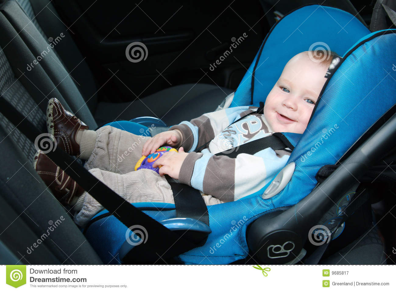 baby in car seat stock image image of infant people 9685817. Black Bedroom Furniture Sets. Home Design Ideas