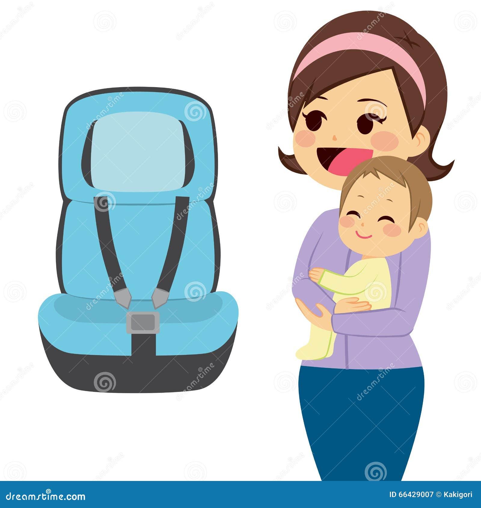 Baby Car Seat Stock Vector Illustration Of Cartoon Chair