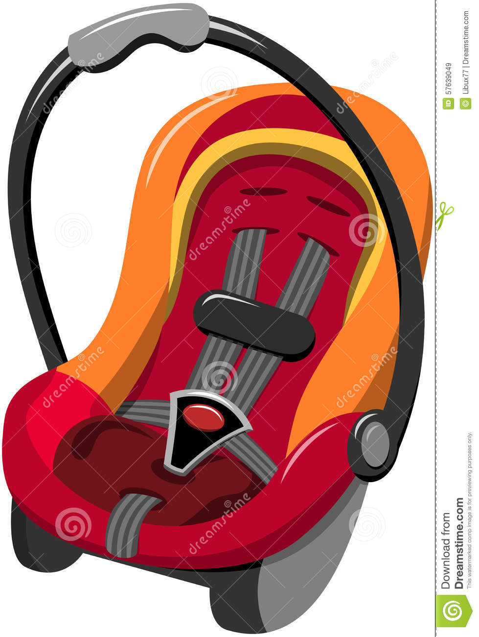 Baby Car Seat Isolated Stock Vector Illustration Of