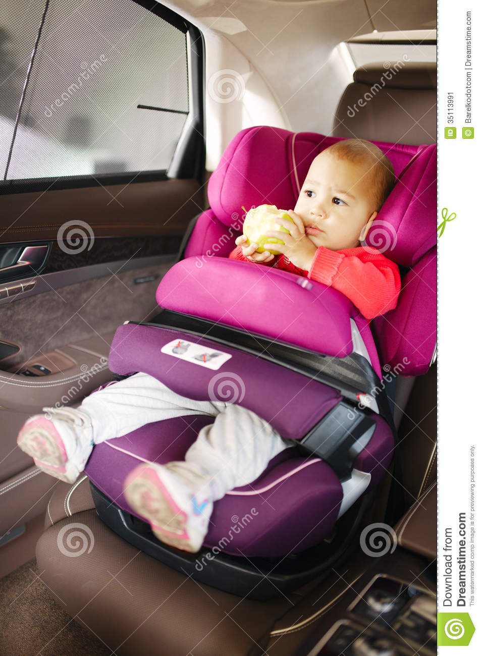 Baby Car Seat For Safety Stock Image Image 35113991