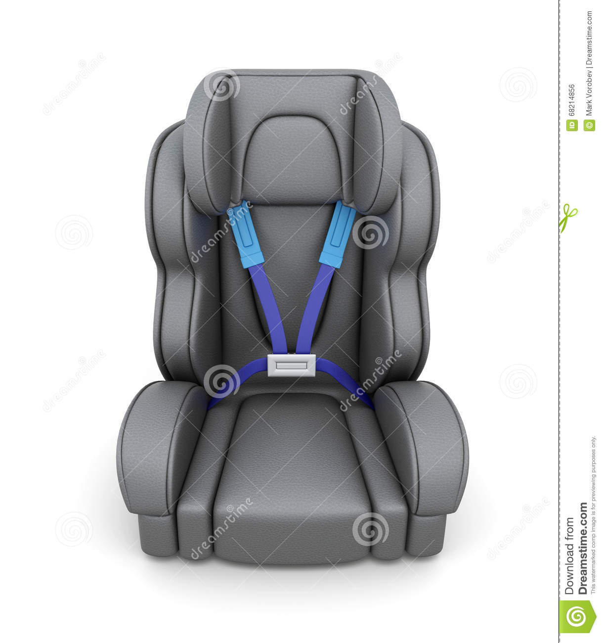 Download Baby Car Seat On A White Background. View Of Front. 3d Stock Illustration  sc 1 st  Dreamstime.com & Baby Car Seat On A White Background. View Of Front. 3d Stock ...