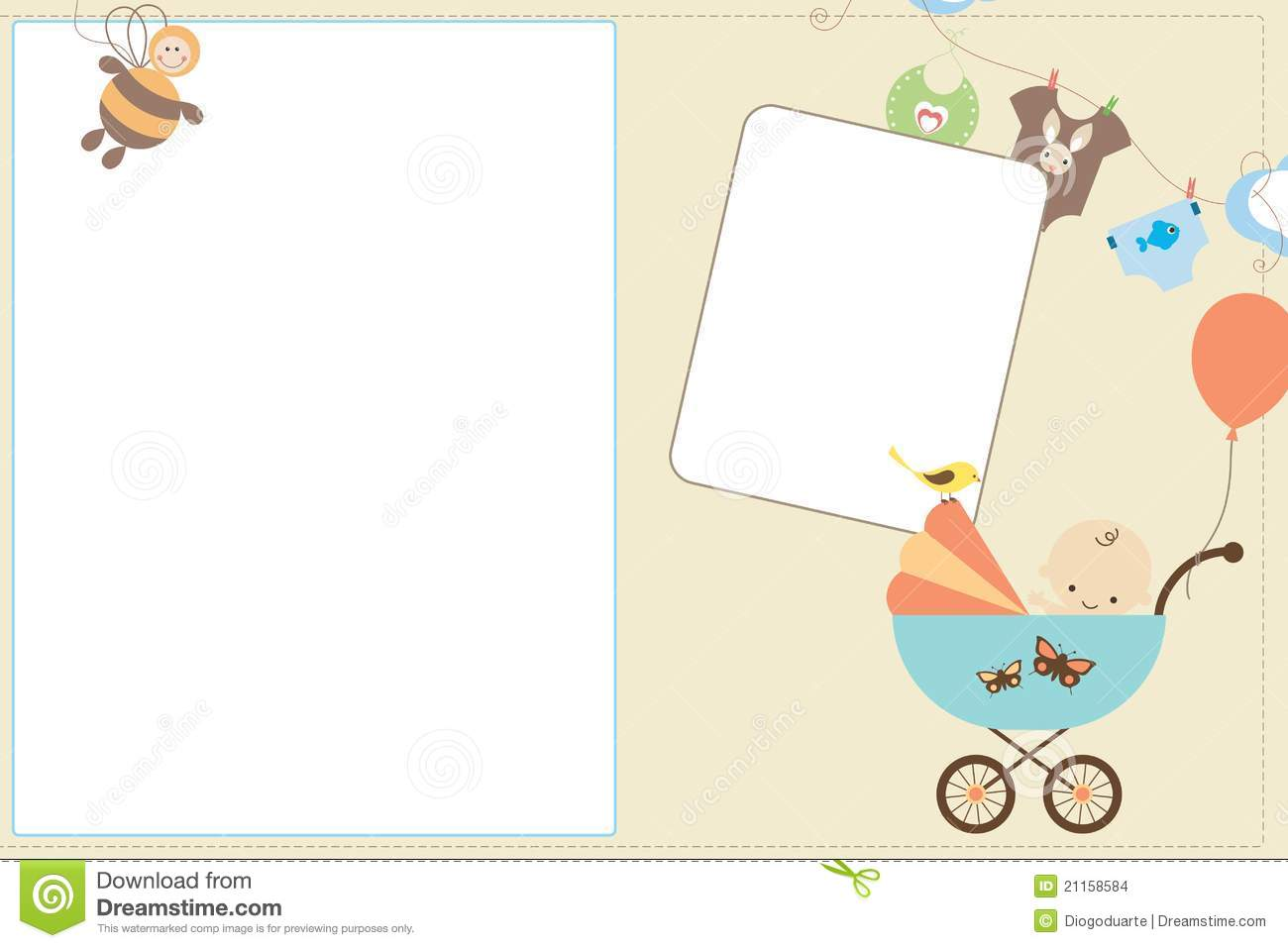 Baby Card Stock Images - Image: 21158584
