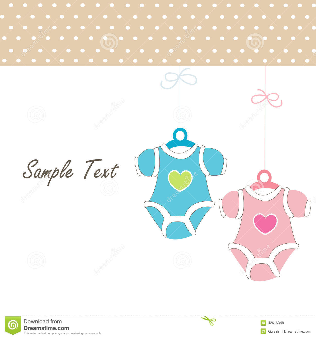 Baby Card Girl Hanging Baby Baby Clothing Icons Stock Vector - Image: 42616348