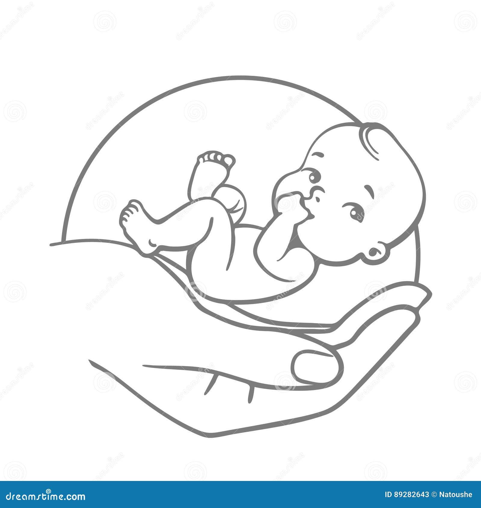 Baby Care Logo Stock Vector Illustration Of Child Logo 89282643