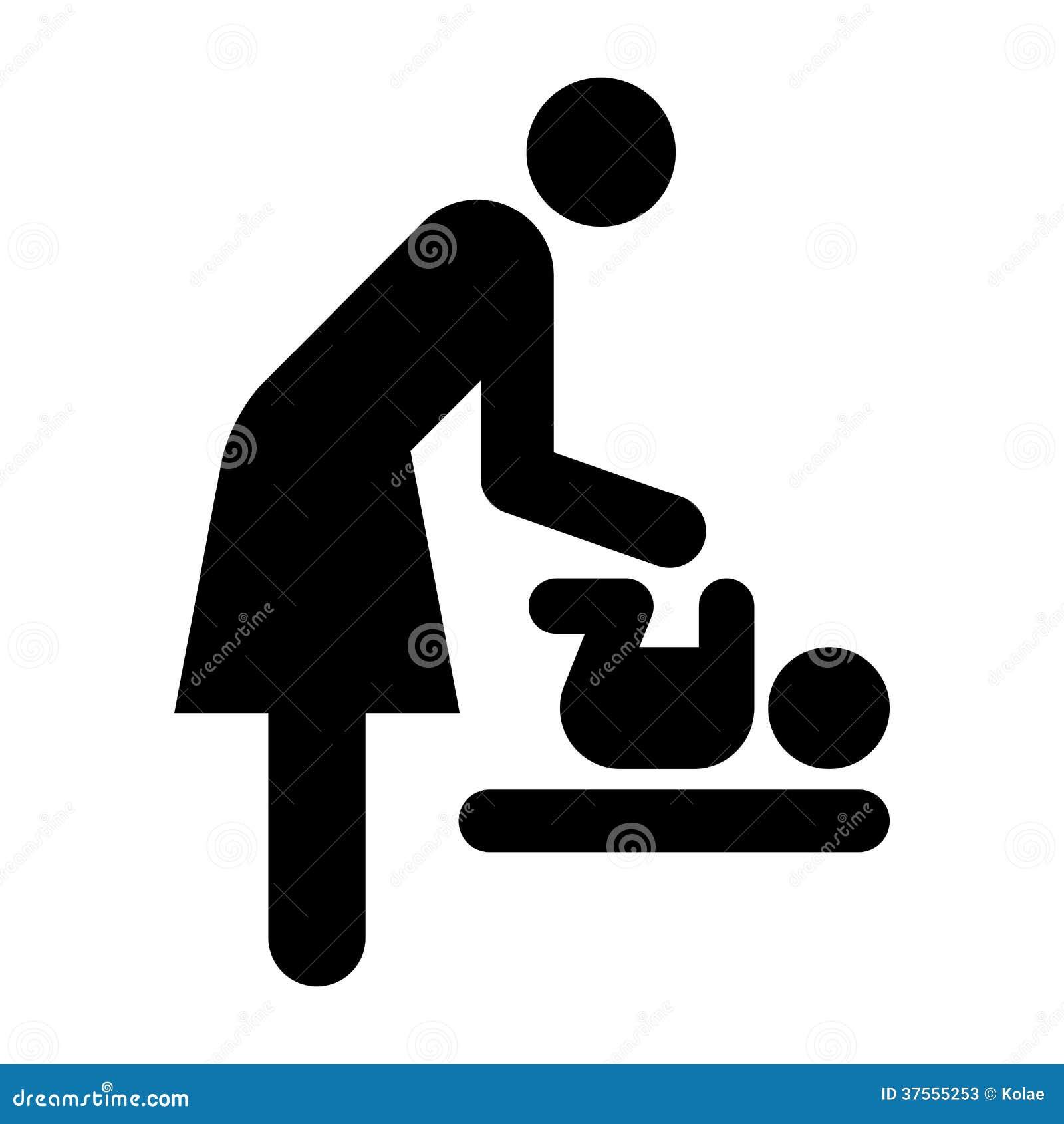 Baby Care Room Symbol,...