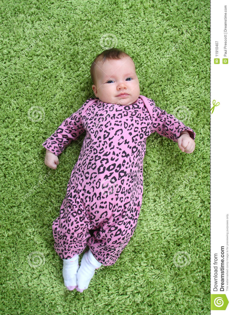 Baby On Carpet Royalty Free Stock Photography Image
